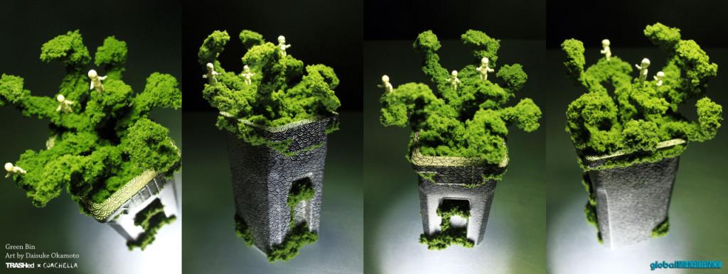 Mini Bin Green Bin